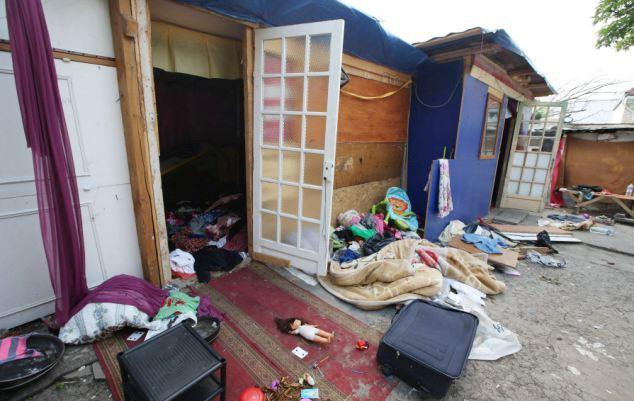 Francia, campo rom a Parigi
