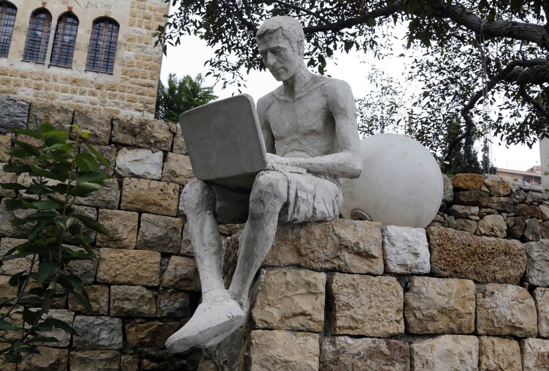 Una scultura dell'artista siriano Wissam Muases
