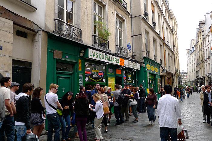 Il quartiere di Marais a Parigi