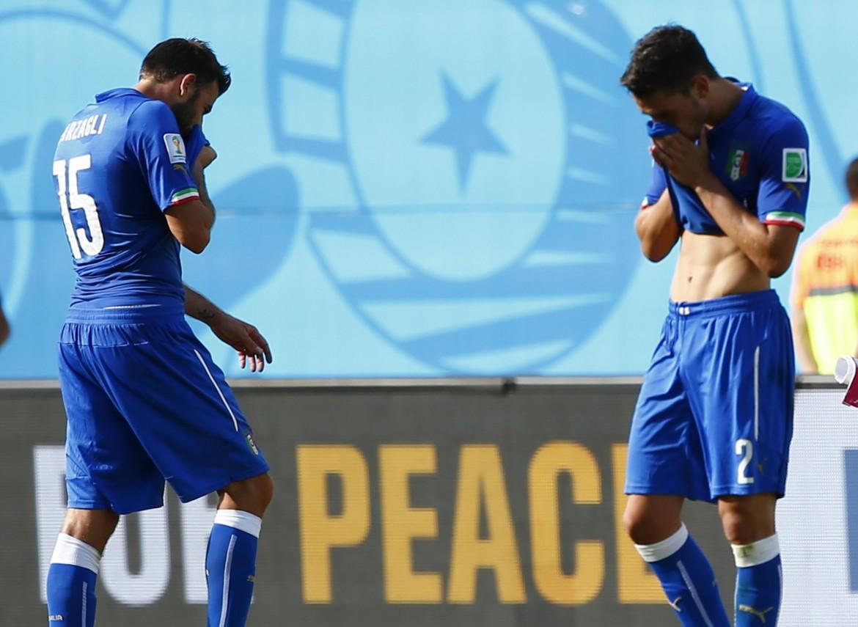 Azzurri e dimessi, al termine della gara con l'Uruguay