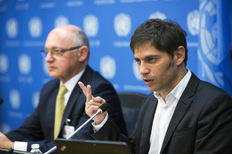 Il ministro argentino dell'Economia, Axel Kicillof all'Onu