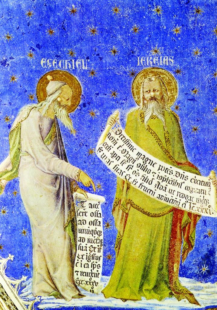 Matteo Giovannetti, «Ezechiele e Geremia», dettaglio degli affreschi della cappella di San Marziale, nel Palazzo dei Papi ad Avignone