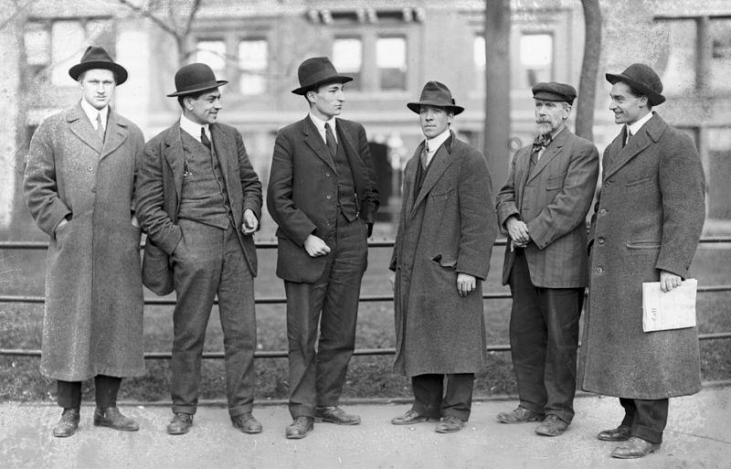 I dirigenti degli Iww Sullivan, Caron, Plunkett, Turner, Woolman