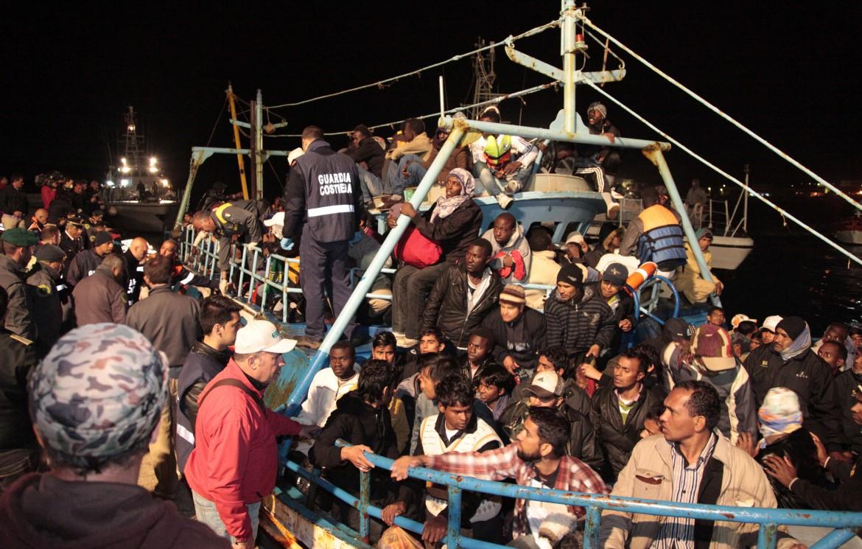 Operazioni di soccorso nel Canale di Sicilia