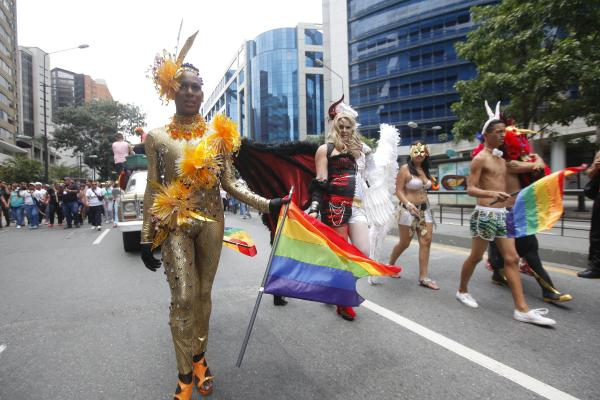 Caracas, manifestazione Glbti