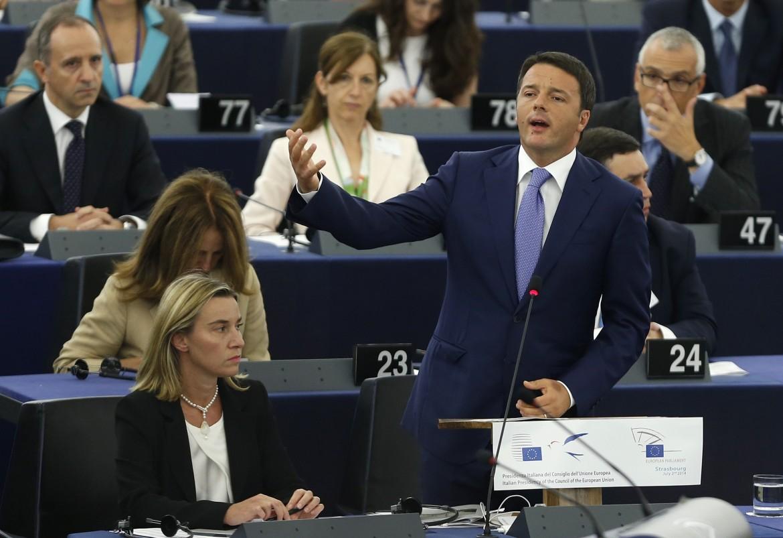 Renzi a Strasburgo