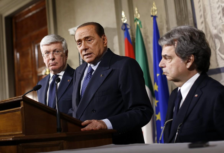 Berlusconi, Brunetta e Romani