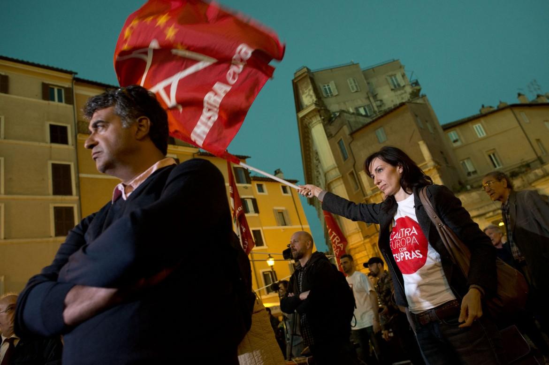 Manifestazione per la lista Tsipras