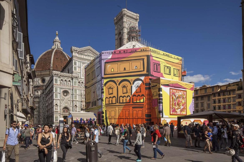 L'installazione griffata Emilio Pucci sul Battistero di Firenze realizzata da Pitti Immagine