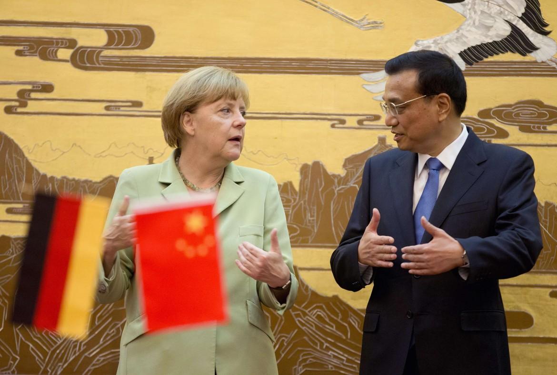 Merkel e Li Keqiang, premier cinese