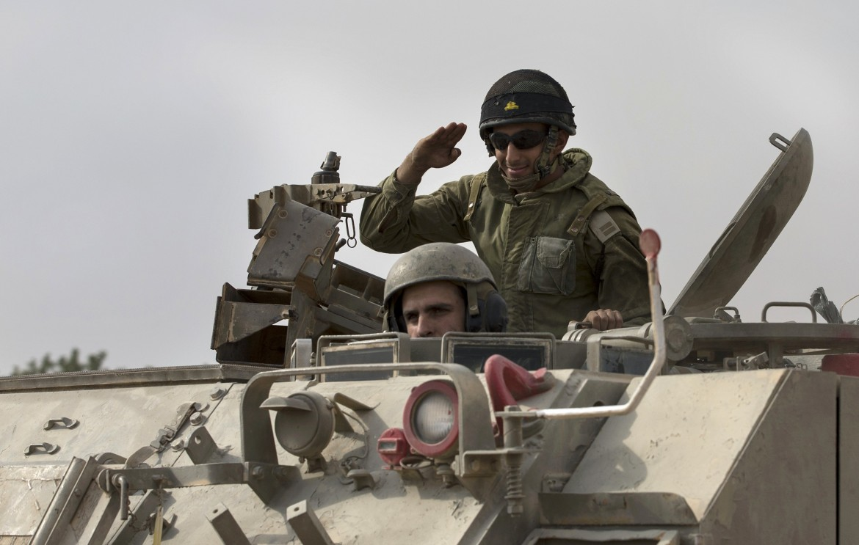 Carro armato israeliano al confine di Gaza