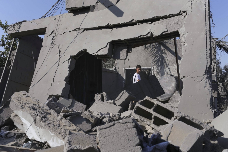 Gaza, macerie dopo i bombardamenti israeliani