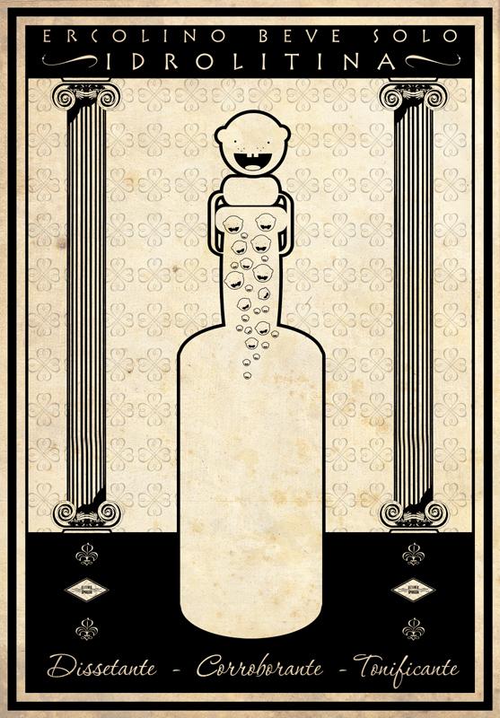 Un manifesto pubblicitario della Idrolitina