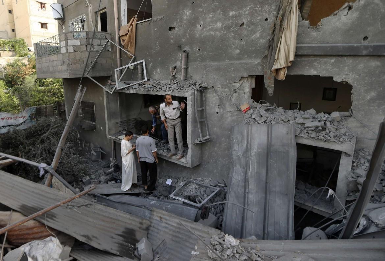 Case di Gaza in macerie