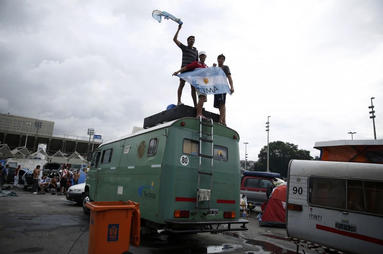 Tifosi argentini a Rio
