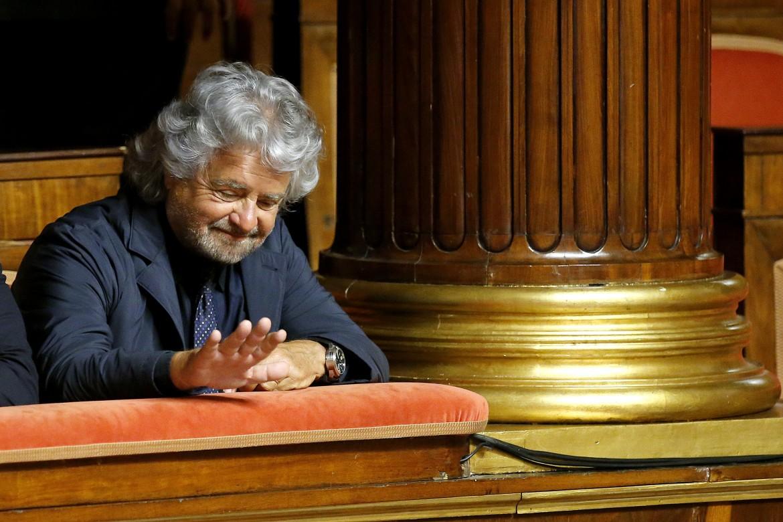 Beppe Grillo al Senato