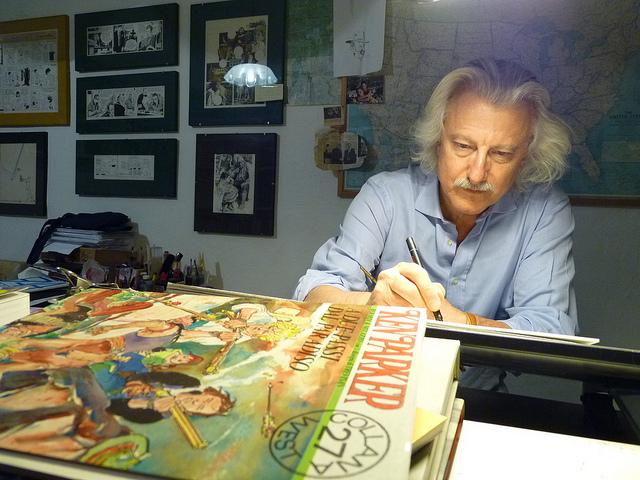 Ivo Milazzo, sotto una tavola di Ken Paker
