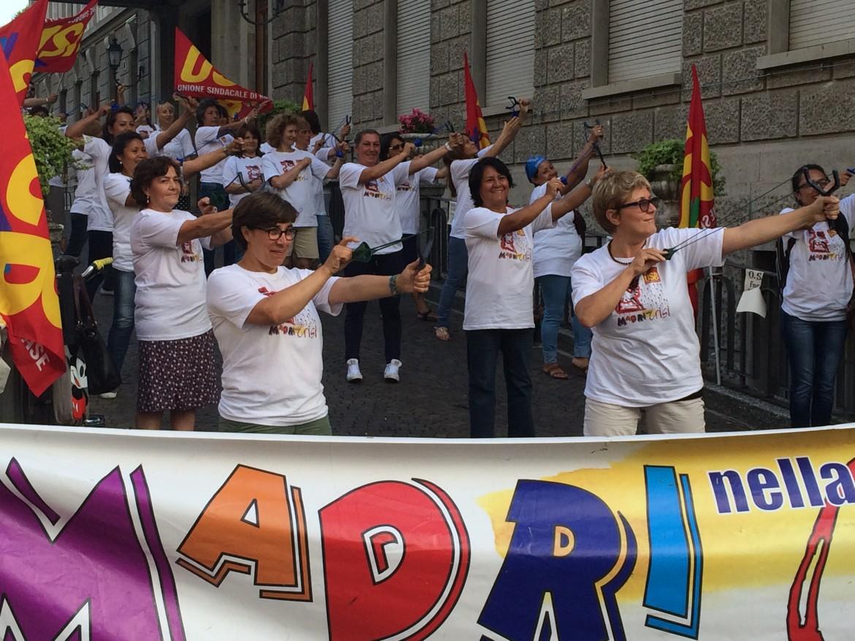 Il flash mob organizzato dalle