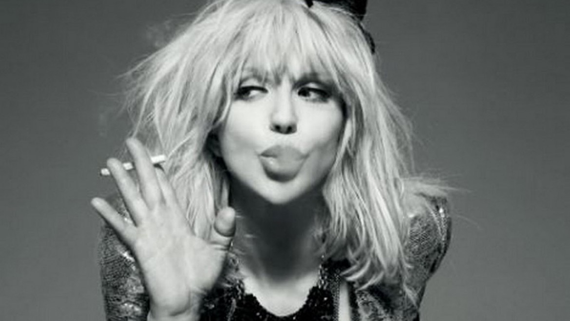 Courtney Love, sotto con Kurt Cobain