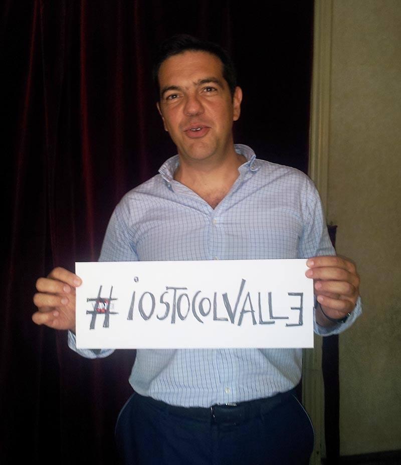 Alexis Tsipras ieri al Teatro Valle
