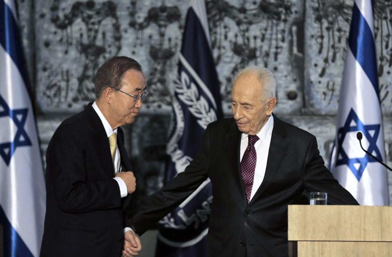Ban Ki-moon e Peres