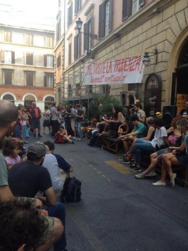 roma 11 agosto, assemblea del valle in strada