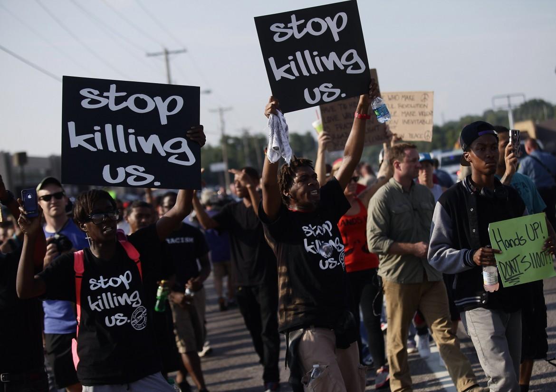 manifestazione a Ferguson