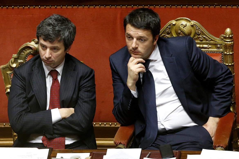 Il ministro Andrea Orlando e l'ex premier Matteo Renzi