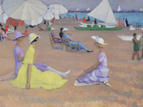 Moses Levy, «Spiaggia e figure a Viareggio», 1921