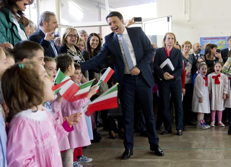 Renzi in classe