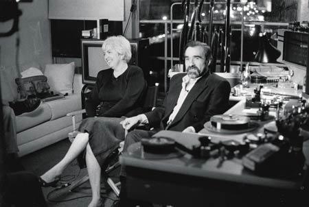 una giovane Thelma Schoonmaker insieme a Martin Scorsese