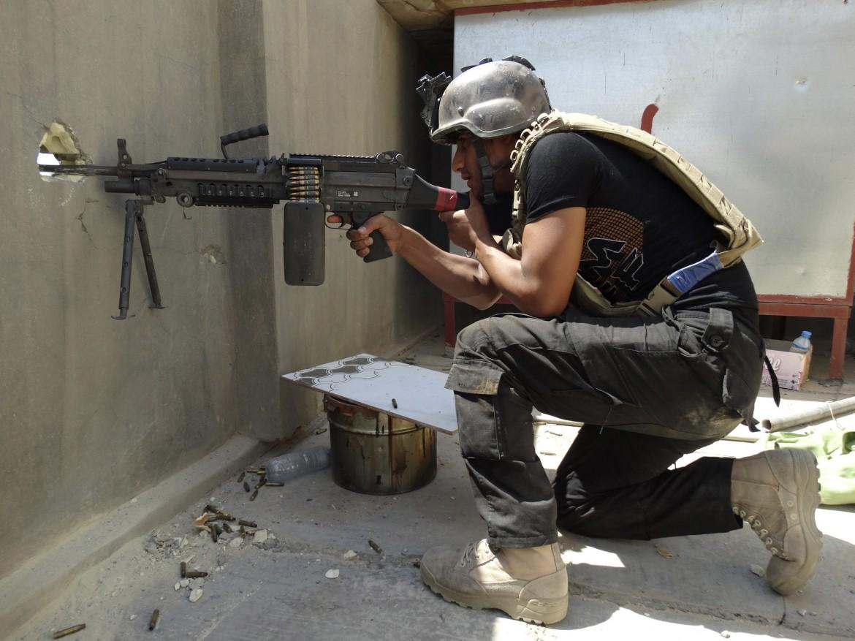 Un soldato iracheno a Ramadi