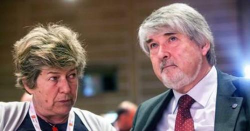 La segretaria della Cgil Susanna Camusso e il ministro del Lavoro Giuliano Poletti