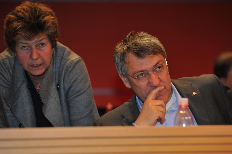Susanna Camusso, segretaria generale Cgil, Maurizio Landini segretario della Fiom