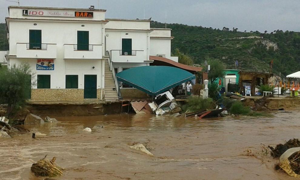 Alluvione a Peschici, nel Gargano