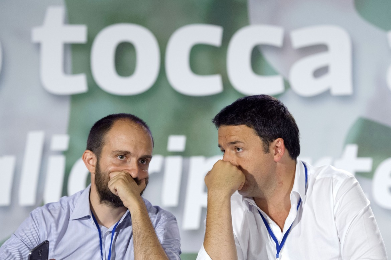 Il presidente Pd Matteo Orfini e l'ex segretario Matteo Renzi
