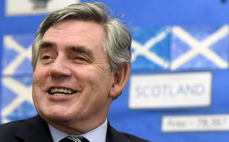 La gioia di Gordon Brown,