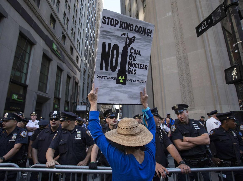 New York, la protesta