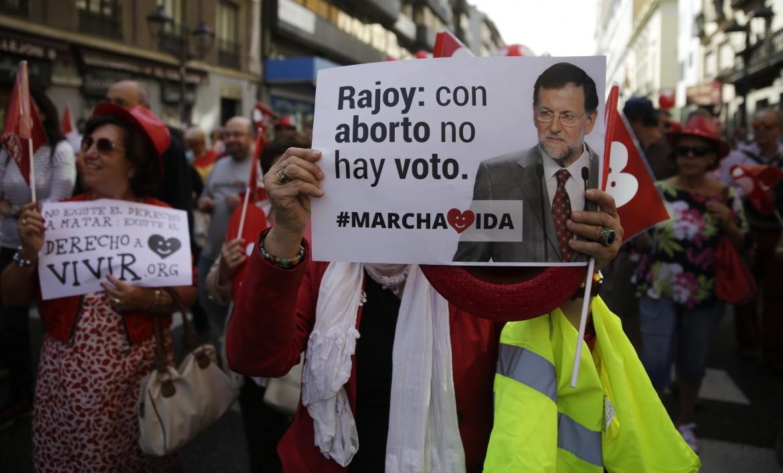 Madrid, la marcia della vita contro l'aborto