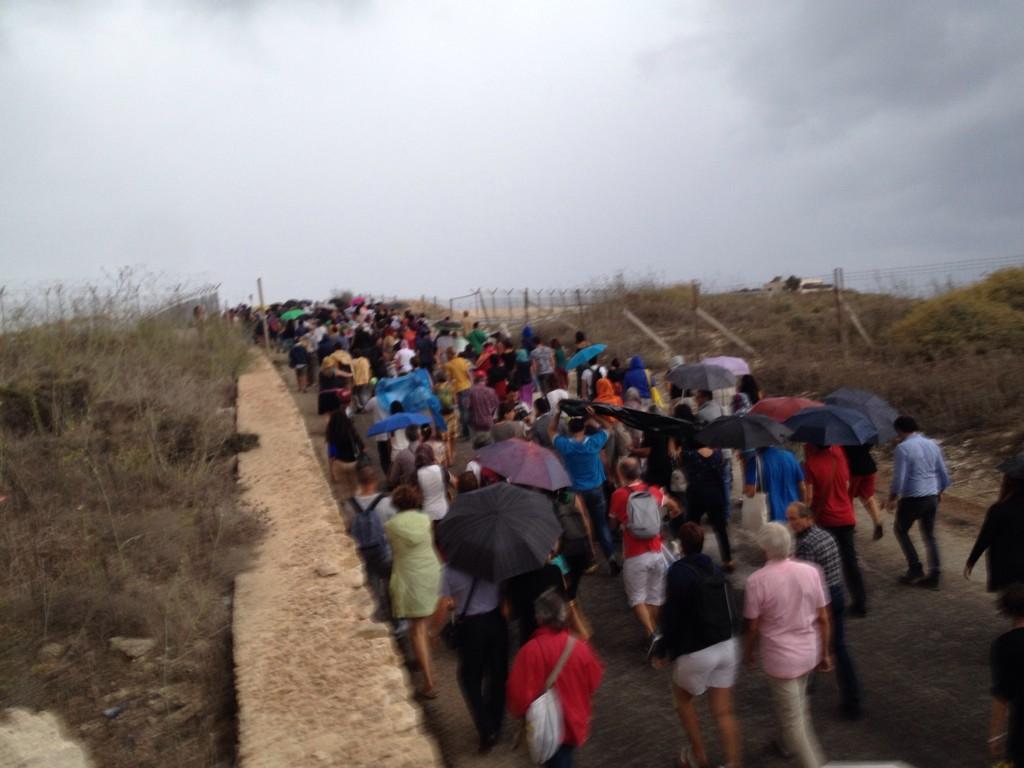 La marcia di ieri a Lampedusa