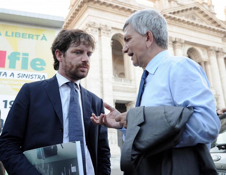 Pippo Civati, deputato Pd, e Nichi Vendola, leader Sel