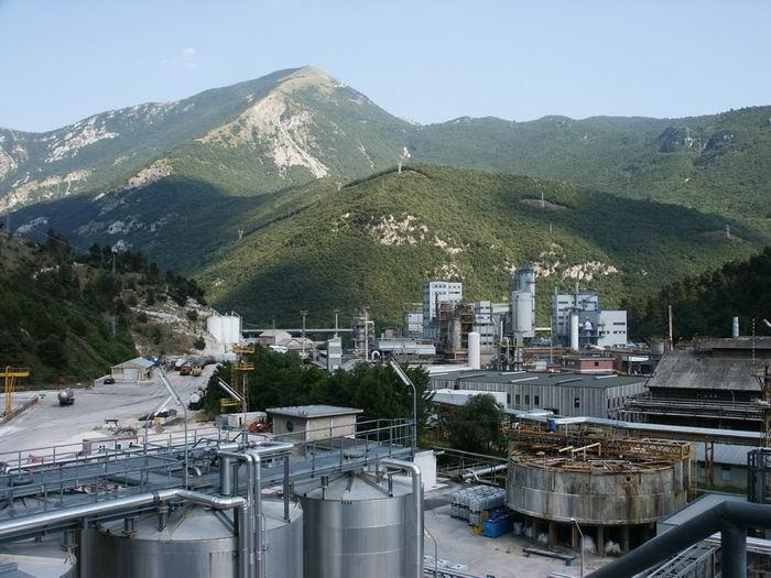 Bussi sul Tirino, lo stabilimento della Montedison