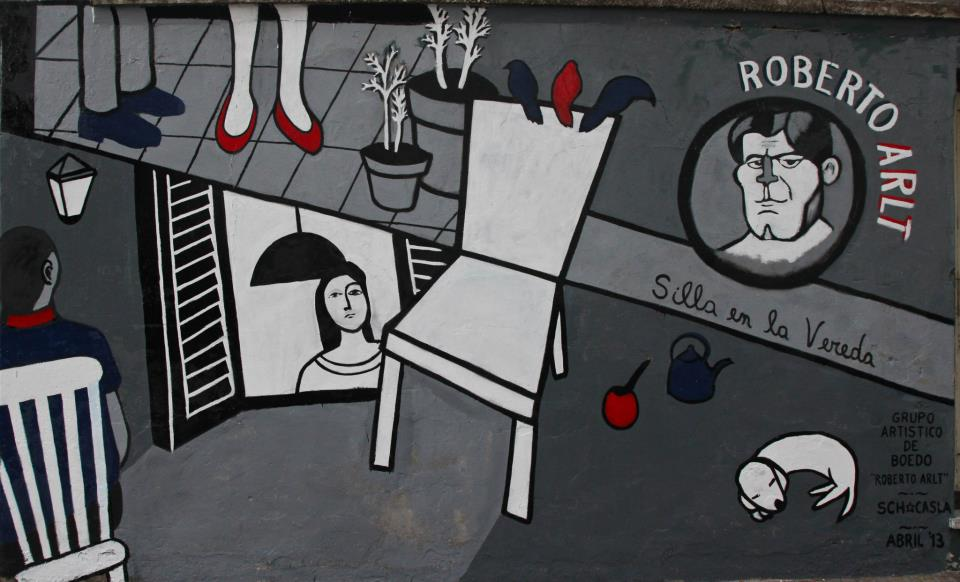 Mural 14, Homenaje a Roberto Arlt