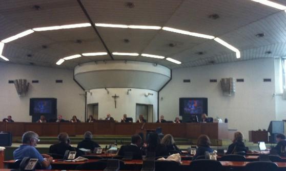 La corte d'assise di Palermo riunita all'aula bunker dell'Ucciardone