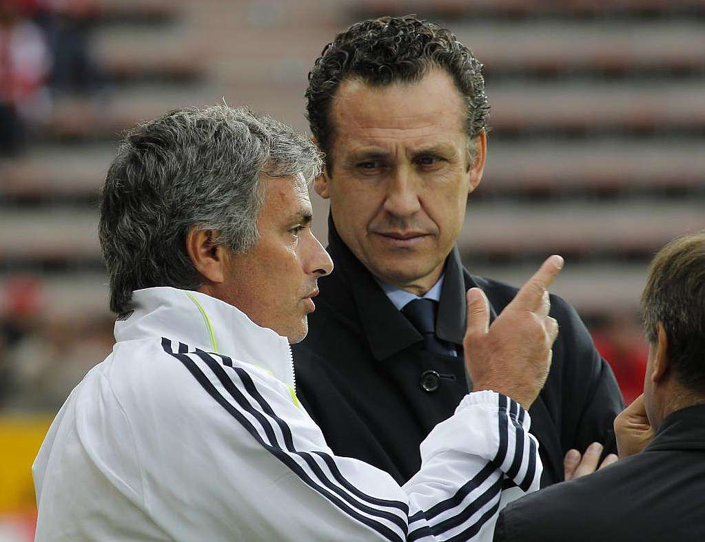 Jorge Valdano con Mourinho