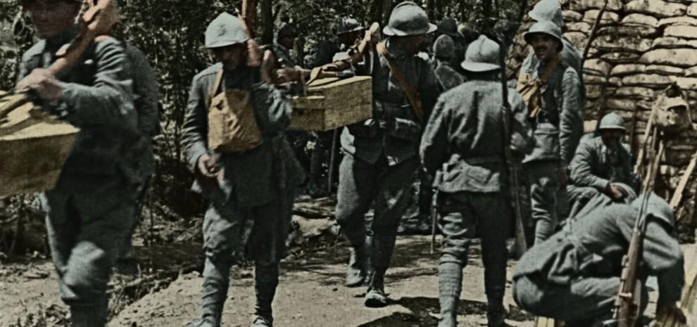 una scena di Fango e guerra