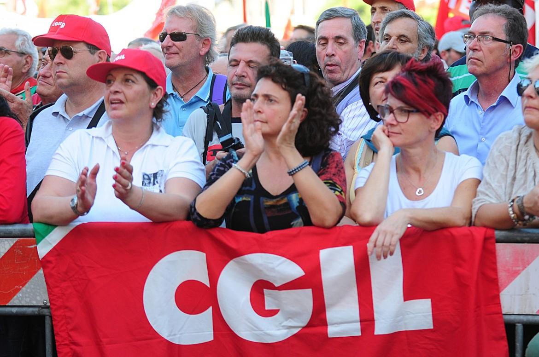Una manifestazione della Cgil