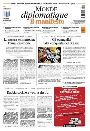Le Monde Diplomatique di ottobre 2014