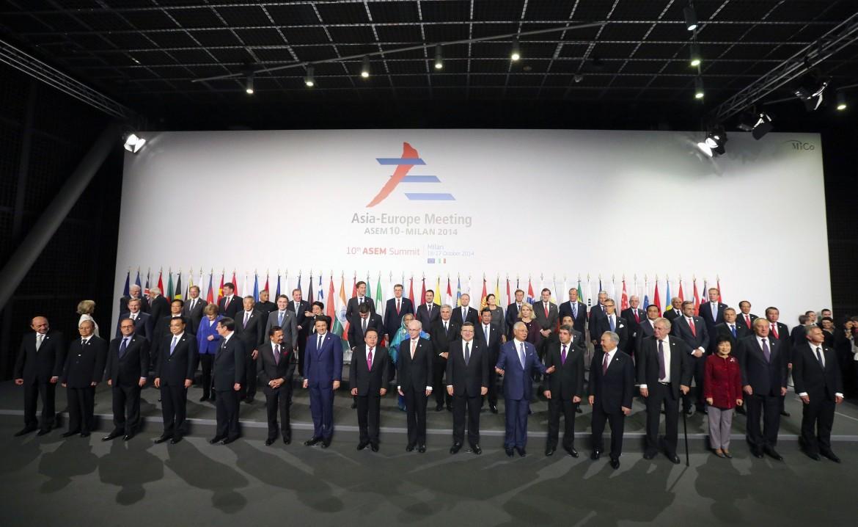 Foto di gruppo al vertice Ue-Asem