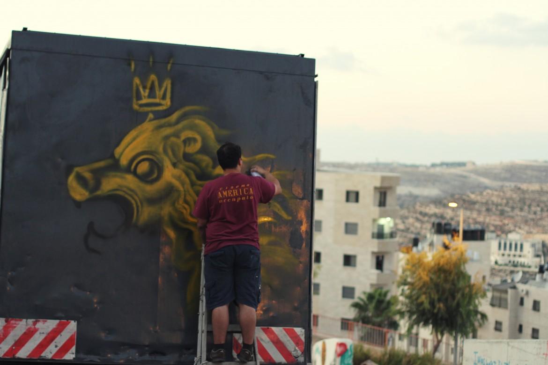 Un'immagine del viaggio in Palestina, foto di Kento